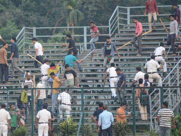 I League Junior Derby Kolkata Maidan Turns Into Battle Field