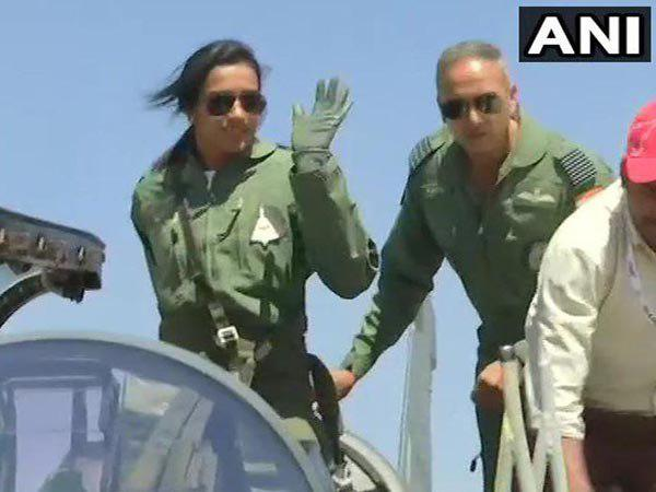 Shuttler P V Sindhu Takes Off Tejas Fighter Jet Bengaluru Air Show