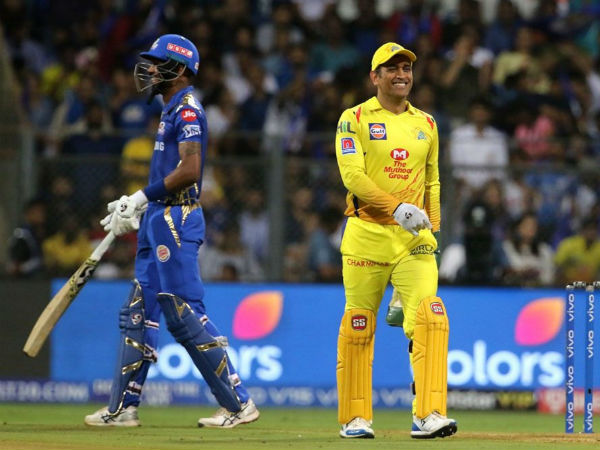 Ipl 2019 Ms Dhoni Reacts As Hardik Pandya Pulls Off A Perfect Helicopter Shot Watch Video
