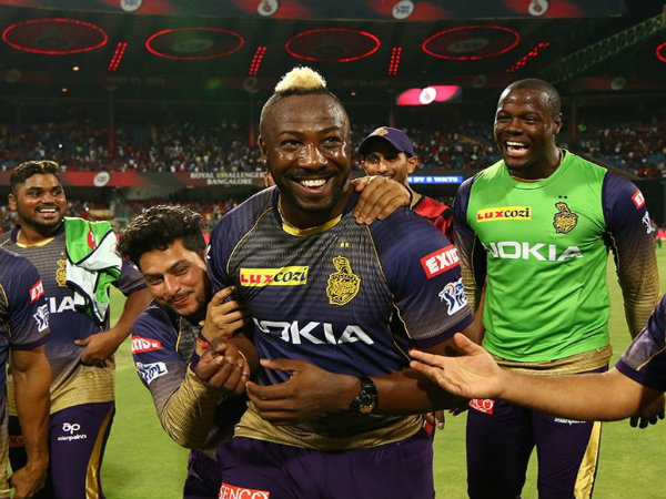Russell Storm At Chinnaswamy Kkr Beat Rcb By 5 Wickets