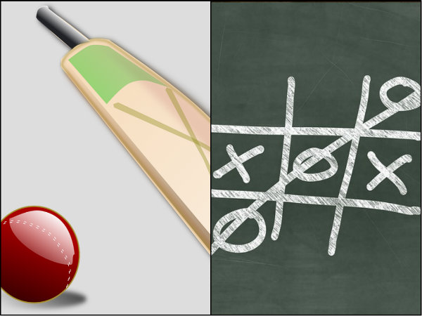 Ipl Teams Engaging In Tic Tac Toe During India Nz Washed Out Game