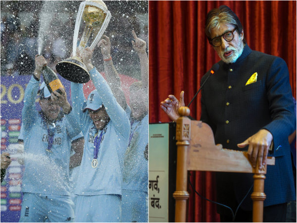 Amitabh Bachchan Criticise Icc As England Wins Cwc 2019 By Icc S Boundary Count Rule