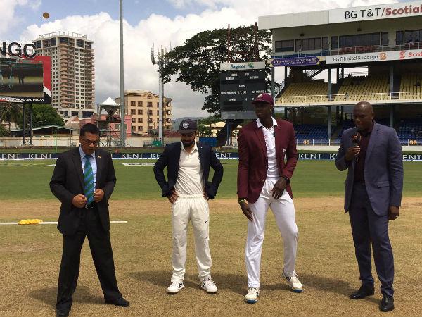 ভারতের বিরুদ্ধে প্রথম টেস্টে টসে জিতে ফিল্ডিং করার সিদ্ধান্ত নিল ওয়েস্ট ইন্ডিজ