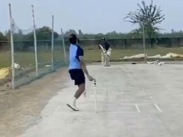 করোনার জড়তা কাটিয়ে গ্রামের বাড়িতে অনুশীলন শুরু ভারতীয় ফাস্ট বোলারের