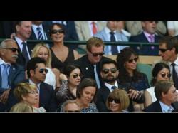 Tendulkar Kohli Anushka Watch Wimbledon Semi Finals