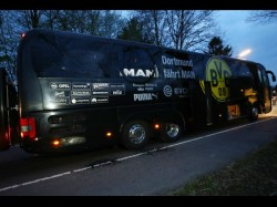 Borussia Dortmund Football Team Bus Hit Explosion One Wounded