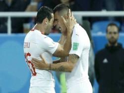Switzerland Beat Serbia 2 1 The Group E Match Fifa World Cup