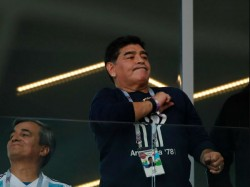 Fifa World Cup 2018 Maradona Receives Treatment After Argentina S Dramatic Win Over Nigeria