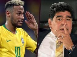 Argentain Football God Maradona Praises Brazil Neymar