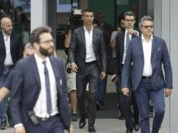 Cristiano Ronaldo Arrives Turin With Girlfriend Georgina Rodriguez