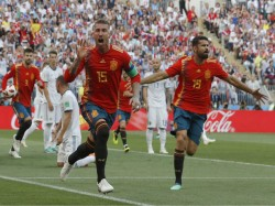 Diego Costa S Knee Saves Spain Against Iran World Cup Group B Match