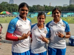 Indian Women Archery Team Settled Silver The Compound Archery Team Event In Asian Games
