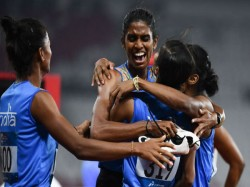 India S Women Relay Team Wins Gold 400 Meter Asian Games