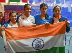 Asian Games Indian Women S Squash Team Bags Silver Medal