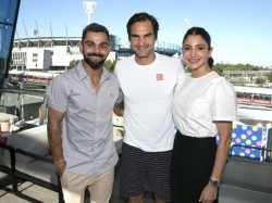 Virat Kohli Meets Roger Federer Watches Djokovic Action At Australian Open
