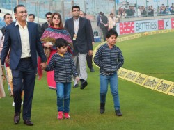 Watch Video Virender Sehwag Features A Funny Advertisement While Babysitting Kids