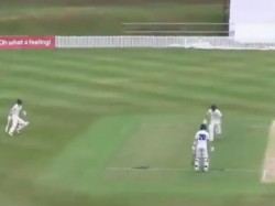 Watch Video Batsman Forgets About The Runner Chaos Ends Bizarre Run Out