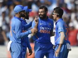 Mohammed Shami Hosts Indian Teammates Ahead 5th Odi Against Australia In Delhi