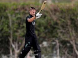 Watch Video Batsman Slams Six Sixes Makes 25 Ball Hundred