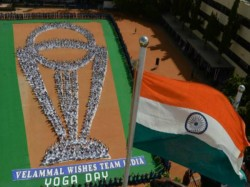 Chennai Students Form Human World Cup Trophy On Yoga Day To