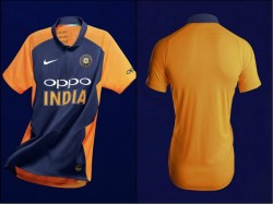 Team India S Orange Jersey Officially Unveiled By Bcci Spo