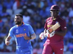 Shami Mocks Sheldon Cottrell S Salute Celebration India Beat Wi By 125 Runs