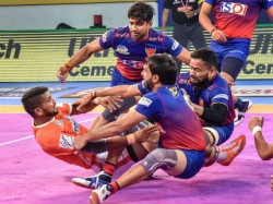 Pro Kabaddi League 2019 Dabang Delhi Beat Telugu Titans In A Nail Biting Finish