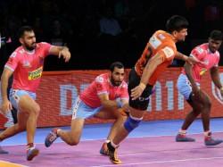 Jaipur Pink Panthers Beat U Mumba In Pro Kabaddi Match