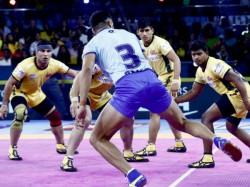 Tamil Thalaivas Beat Telegu Titans In Pro Kabaddi Match