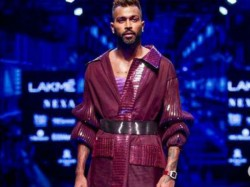 Hardik Pandya Debut On The Ramp Spotted At The Lakme Fashion Week