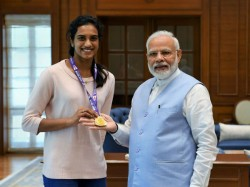 Pv Sindhu Meets Pm Narendra Modi Coach Gopichand Praises Golden Girl