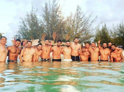 Ind Vs Wi Team India Lead By Virat Kohli Enjoyed Beach Party