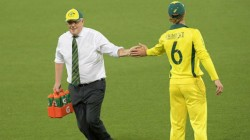 Australia Prime Minister Scott Morrison Carries Water For Team During Practice Match