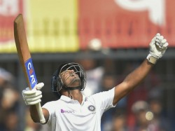 Mayank Agarwal Reaches Double Hundred By Hitting Six