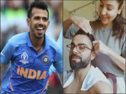Yuzvendra Chahal S Respons To Virat Kohli S Hair Cutting By Wife Anushka Sharma