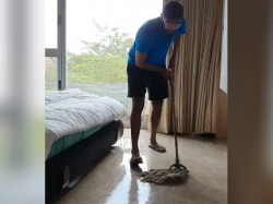 Jasprit Bumrah Spend Time By Floor Cleaning In 21 Days Lockdown For Coronavirus Pandemic