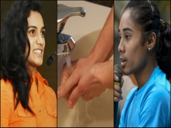 Pv Sindhu Hima Das And Kiren Rijiju Accepts Who S Safehandschallenge Virat Kohli Invited
