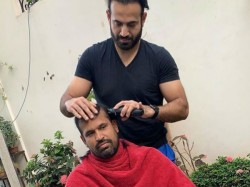 Former Indian Cricketer Irfan Pathan Turns Barber For Brother In Lockdown