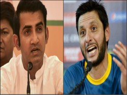 Gautam Gambhir Lashes Out On Shahid Afridi Once Again In Social Media