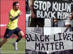 Lionel Messi Join Blackout Tuesday Movement In Wake Of George Floyd S Murder By Policeman In America