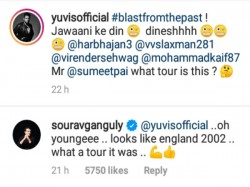 Sourav Ganguly Feels Nostalgic On Yuvraj Singh S Old Picture