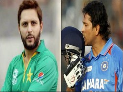 Shahid Afridi Scored Fastest Century By Sachin Tendulkar S Bat